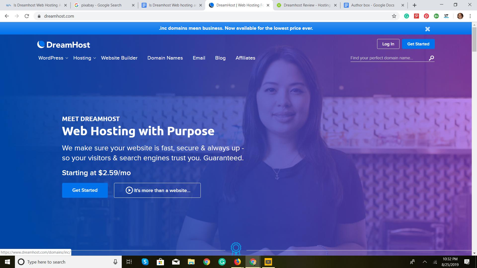 Dream web hosting