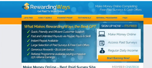 Reward Ways Review- Rewarding Ways is a Get Paid To or GPT program that payout to their members for tasks completed.