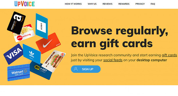 The UpVoice Panel Earn $75 A Year For Just Browsing